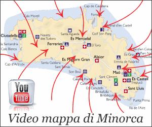 Video mappa di Minorca