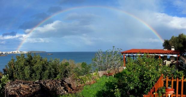 Meteo Creta arcobaleno Agios Nikolaos previsioni meteo