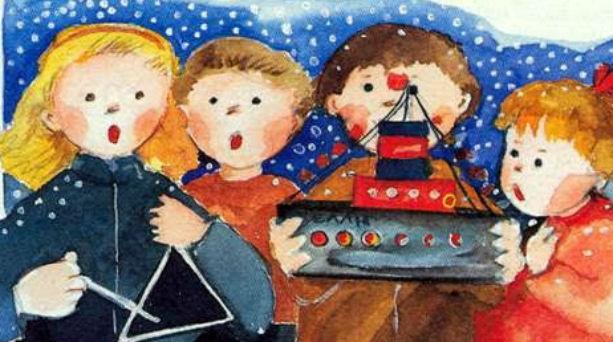 Kalanta a Creta canti di Natale illustrazione a colori